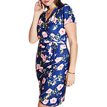 Buy Yumi Curves Rose Wrap Dress, Multi Online at johnlewis.com