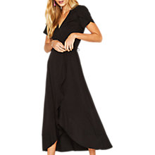 Buy Oasis Wrap Midi Dress, Black Online at johnlewis.com
