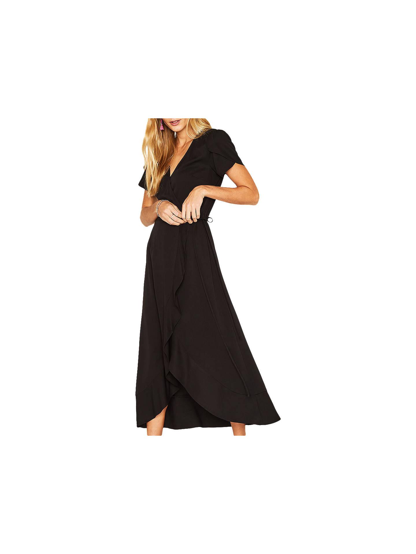 e2bd0a0e9791 Buy Oasis Wrap Midi Dress, Black, 6 Online at johnlewis.com ...