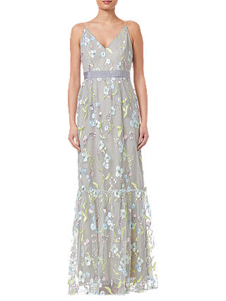 Buy Adrianna Papell Embroidery Dress, Lime/Multi, 8 Online at johnlewis.com