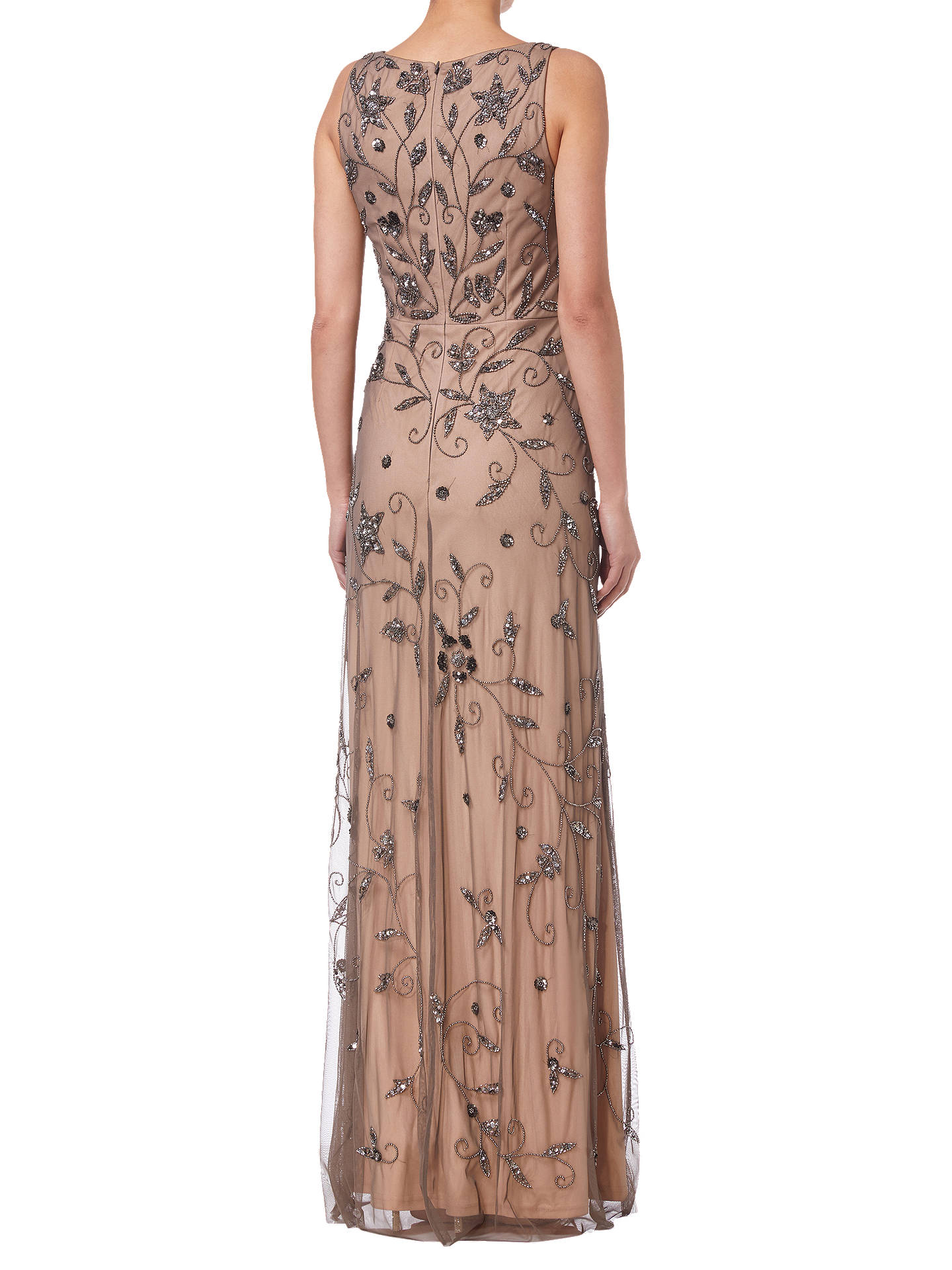 BuyAdrianna Papell Maxi Beaded Dress, Lead, 8 Online at johnlewis.com