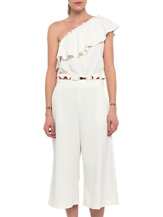 French Connection Ruth Culotte Trousers, Summer White