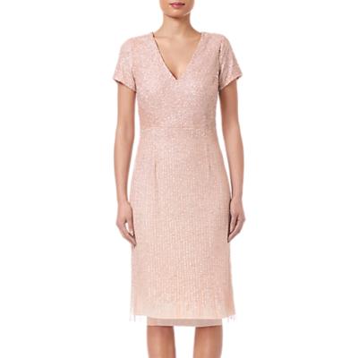 Adrianna Papell Shell Beaded Short Dress, Shell