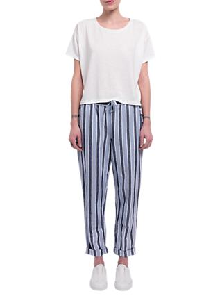 French Connection Serra Stripe Tie Waist Joggers, Multi