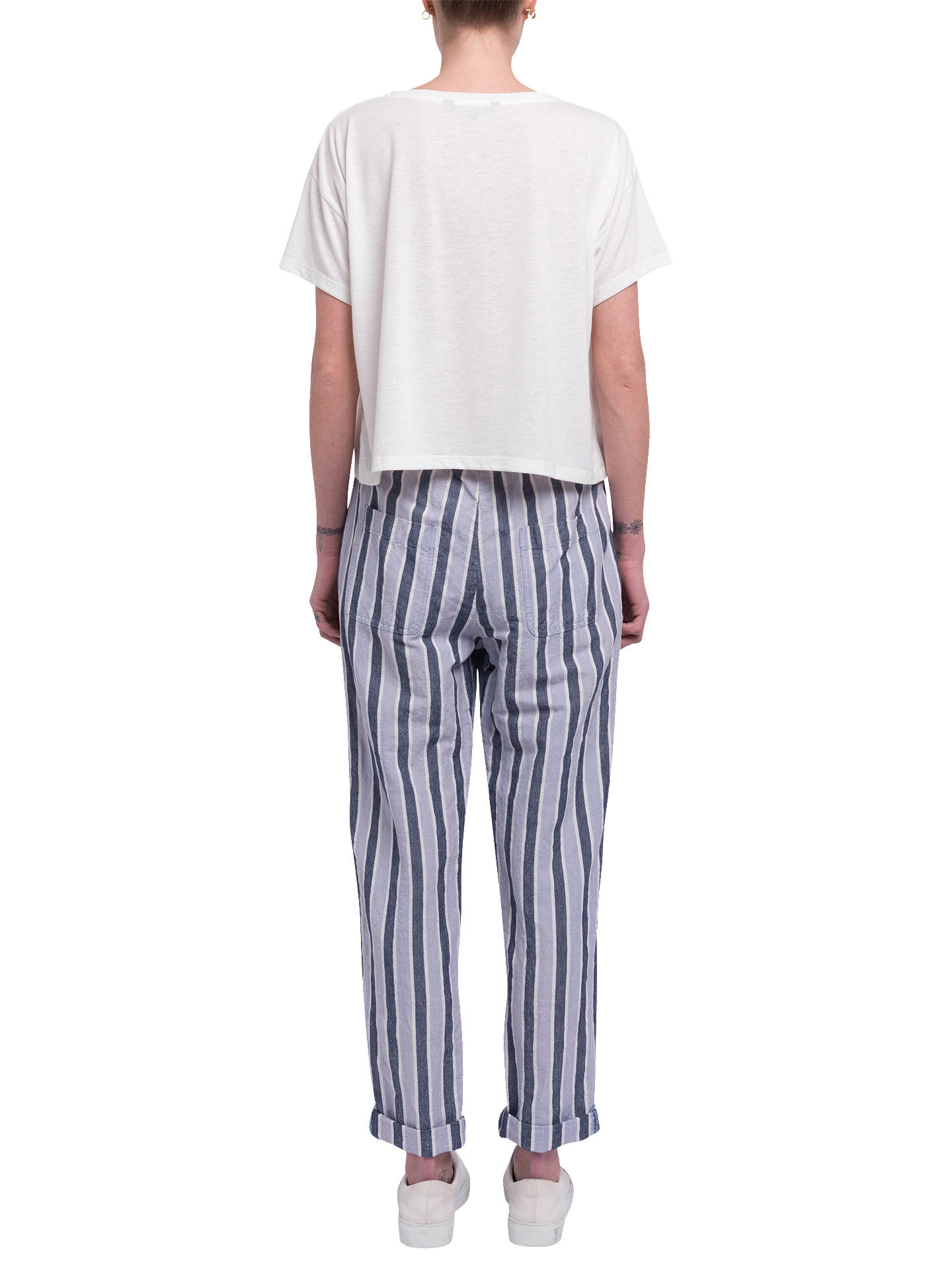 ffd17b12036 Buy French Connection Serra Stripe Tie Waist Joggers, Multi, 8 Online at  johnlewis.