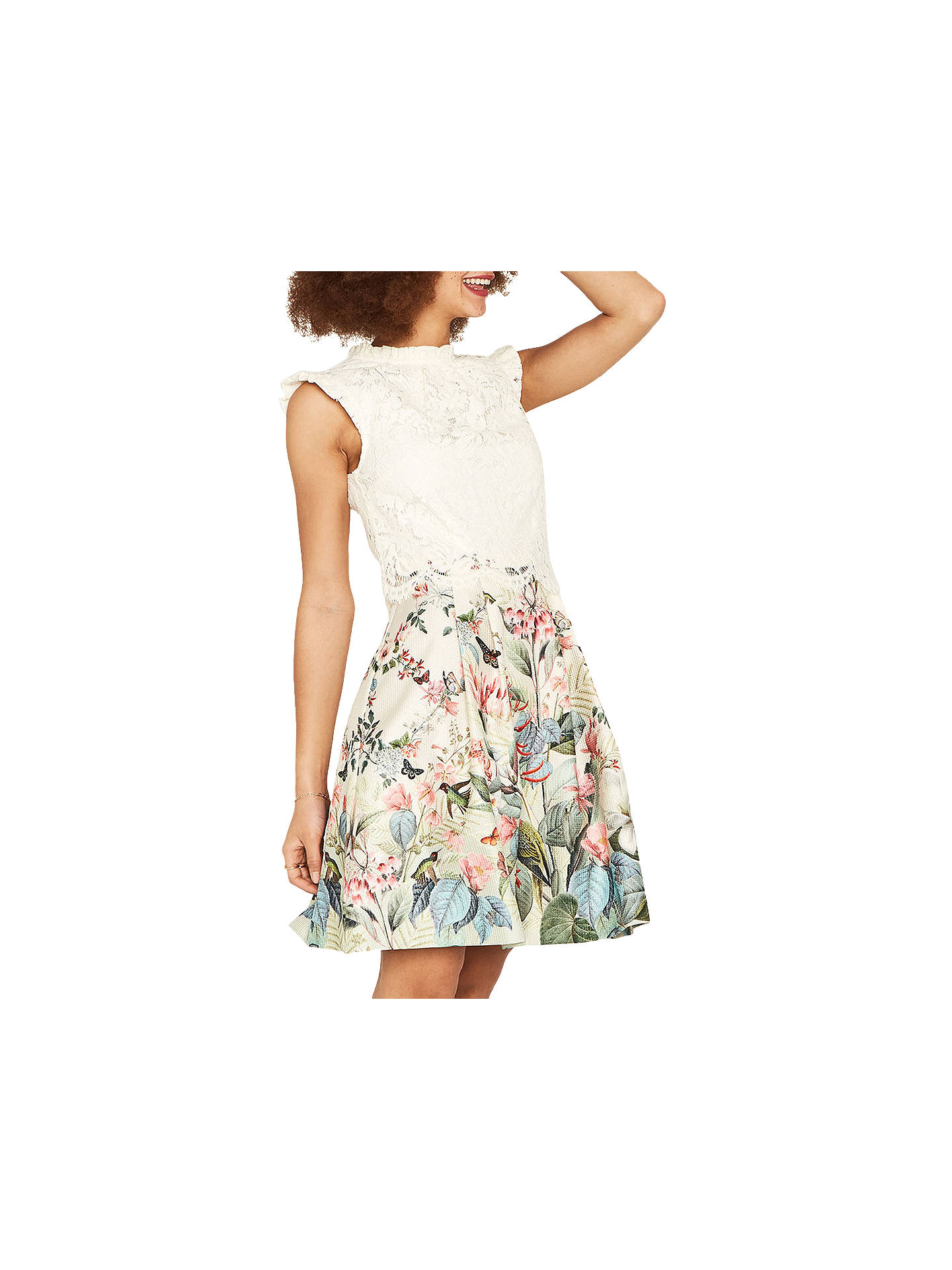 fefefc623839 Buy Oasis Fitzwilliam Skater Dress, Multi/Natural, 6 Online at  johnlewis.com ...