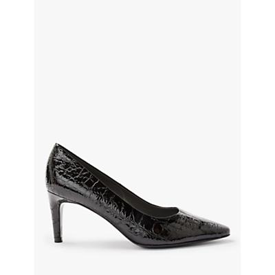 Peter Kaiser Ressa Stiletto Heel Court Shoes, Black Leather
