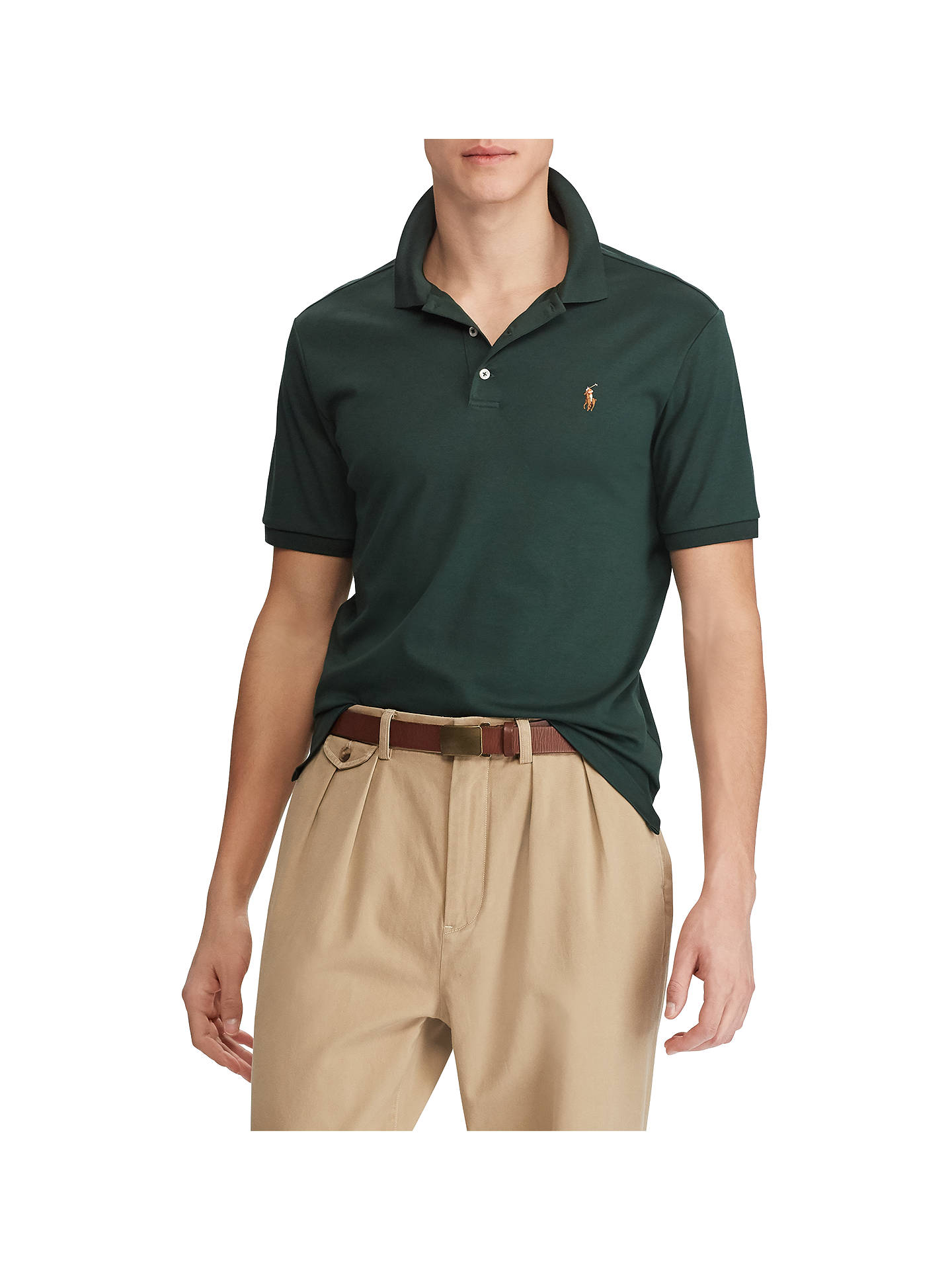 BuyPolo Ralph Lauren Slim Fit Polo Shirt, College Green, S Online at  johnlewis. 2c3ac8a1f8