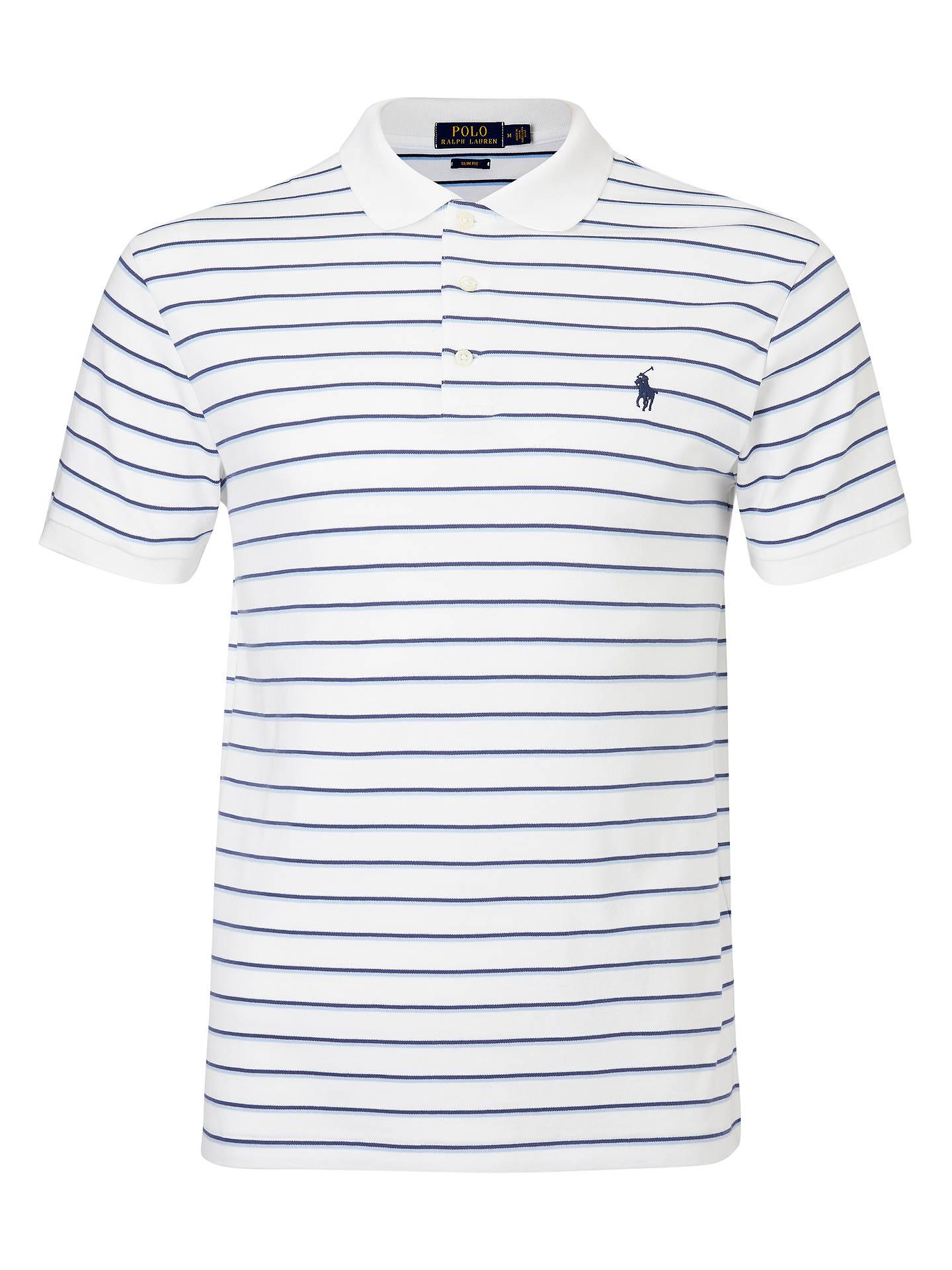 f0a4f2543620 Polo Ralph Lauren Double Stripe Polo Shirt at John Lewis   Partners