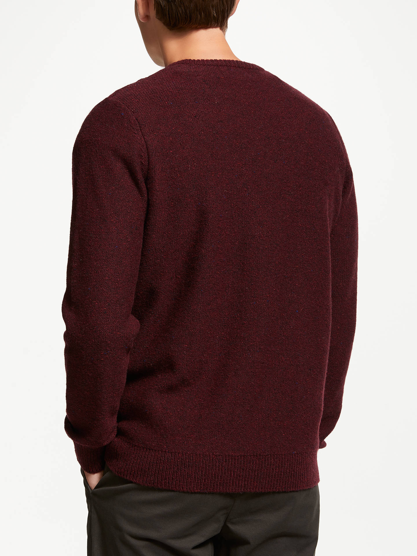 Buy John Lewis & Partners Cable Crew Neck Jumper, Red, L Online at johnlewis.com