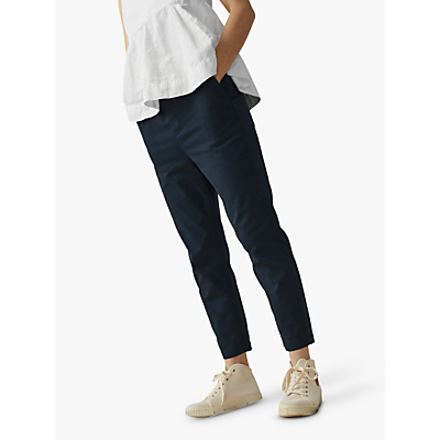 Toast Cotton Twill Pull On Trousers, Storm Blue
