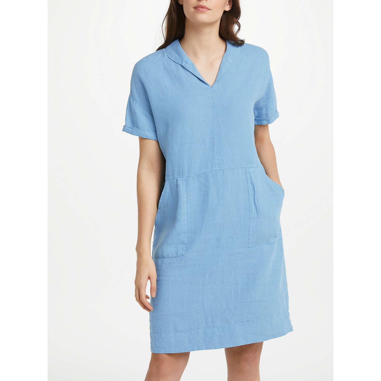 Seasalt Vivier Linen Dress, Tide at John Lewis