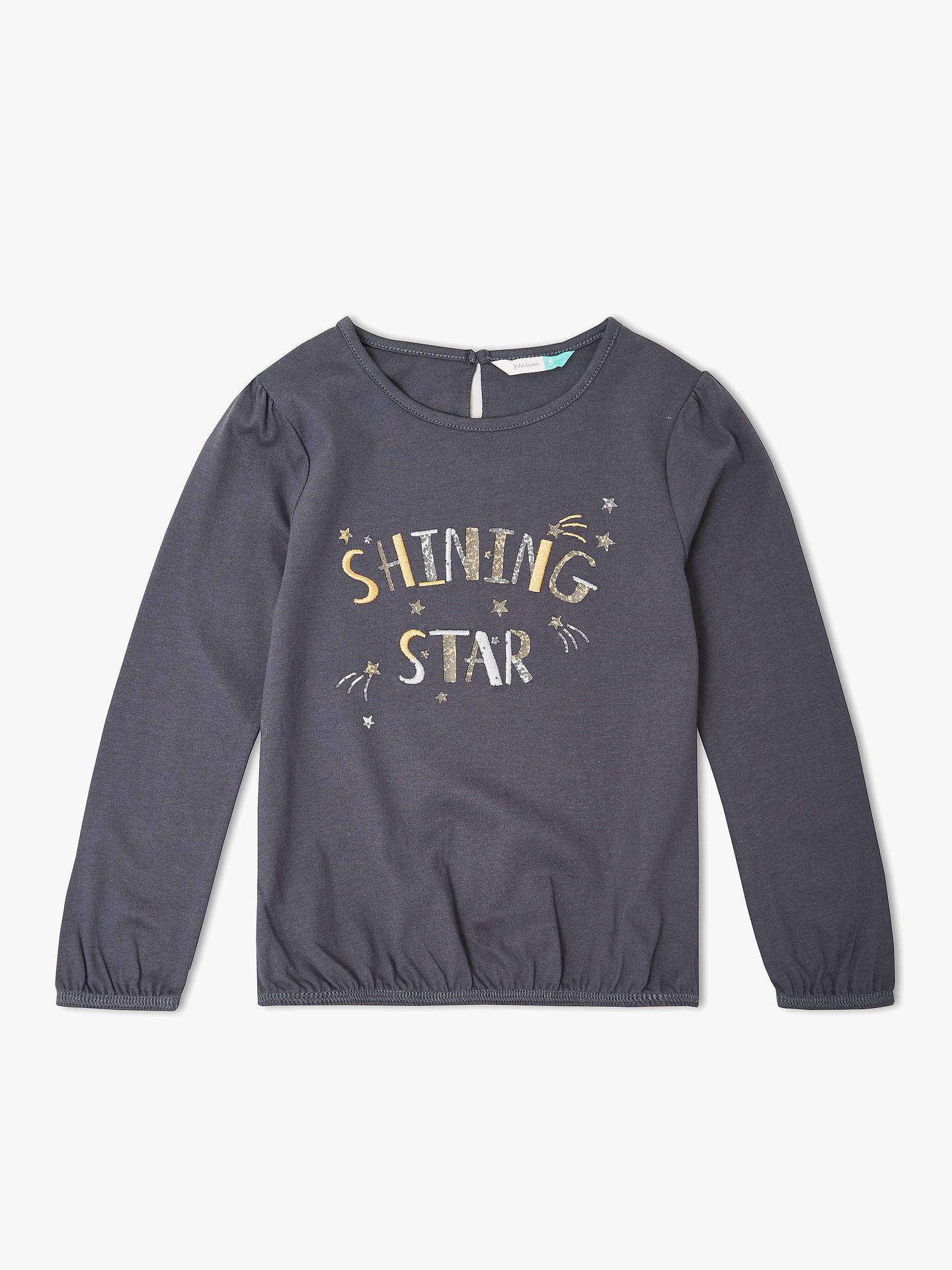 BuyJohn Lewis & Partners Girls' Shining Star T-Shirt, Patriot Blue, 2 years Online at johnlewis.com