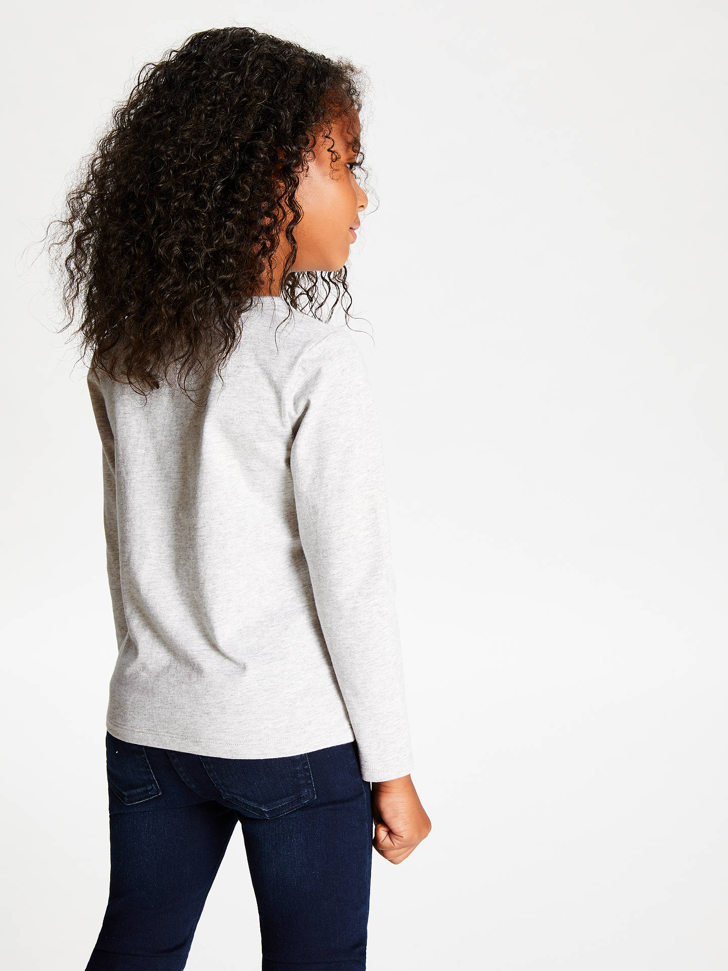 Buy John Lewis & Partners Girls' Pegasus Sequin Tee, Grey Marl, 11 years Online at johnlewis.com