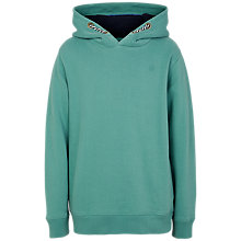 Buy Fat Face Boys' Dinosaur Popover Hoodie, Green Online at johnlewis.com