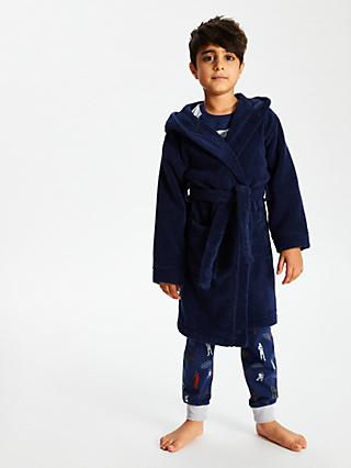 John Lewis & Partners Towelling Dressing Gown, Navy