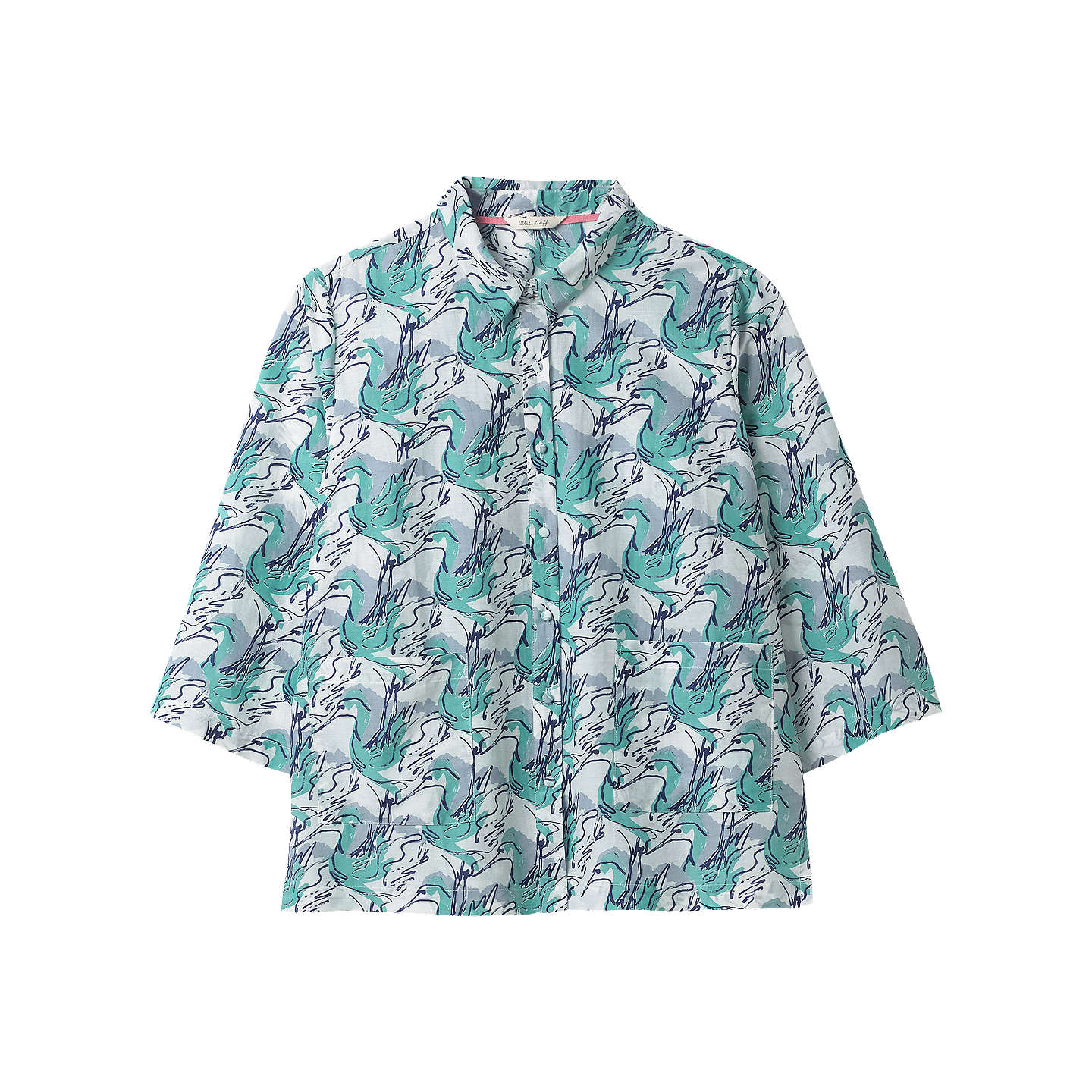 White Stuff Bird on Wire Shirt, White | 6 at John Lewis