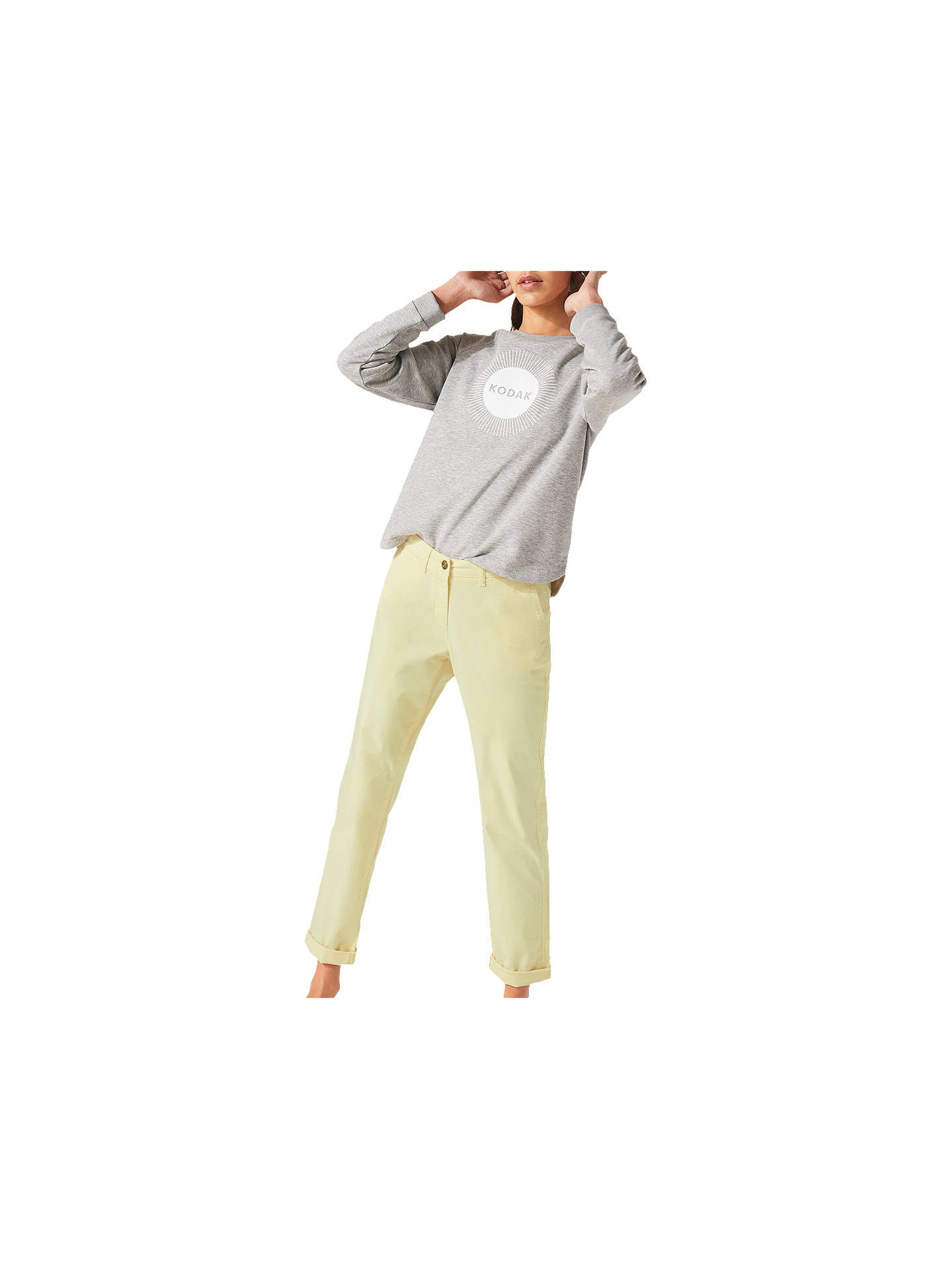 BuyJigsaw Washed Cotton Slim Leg Chinos, Citron, 6 Online at johnlewis.com