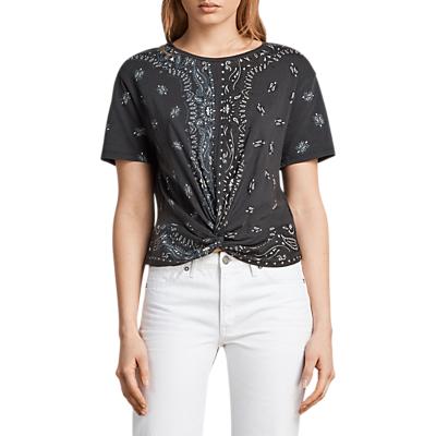 AllSaints Bandana Carme T-Shirt, Fadeout Black