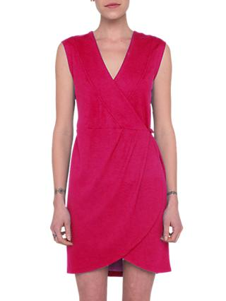 French Connection Lula Ponte Wrap Dress, Watermelon