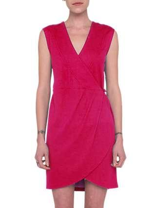 French Connection Lula Ponte Wrap Dress, Watermelon