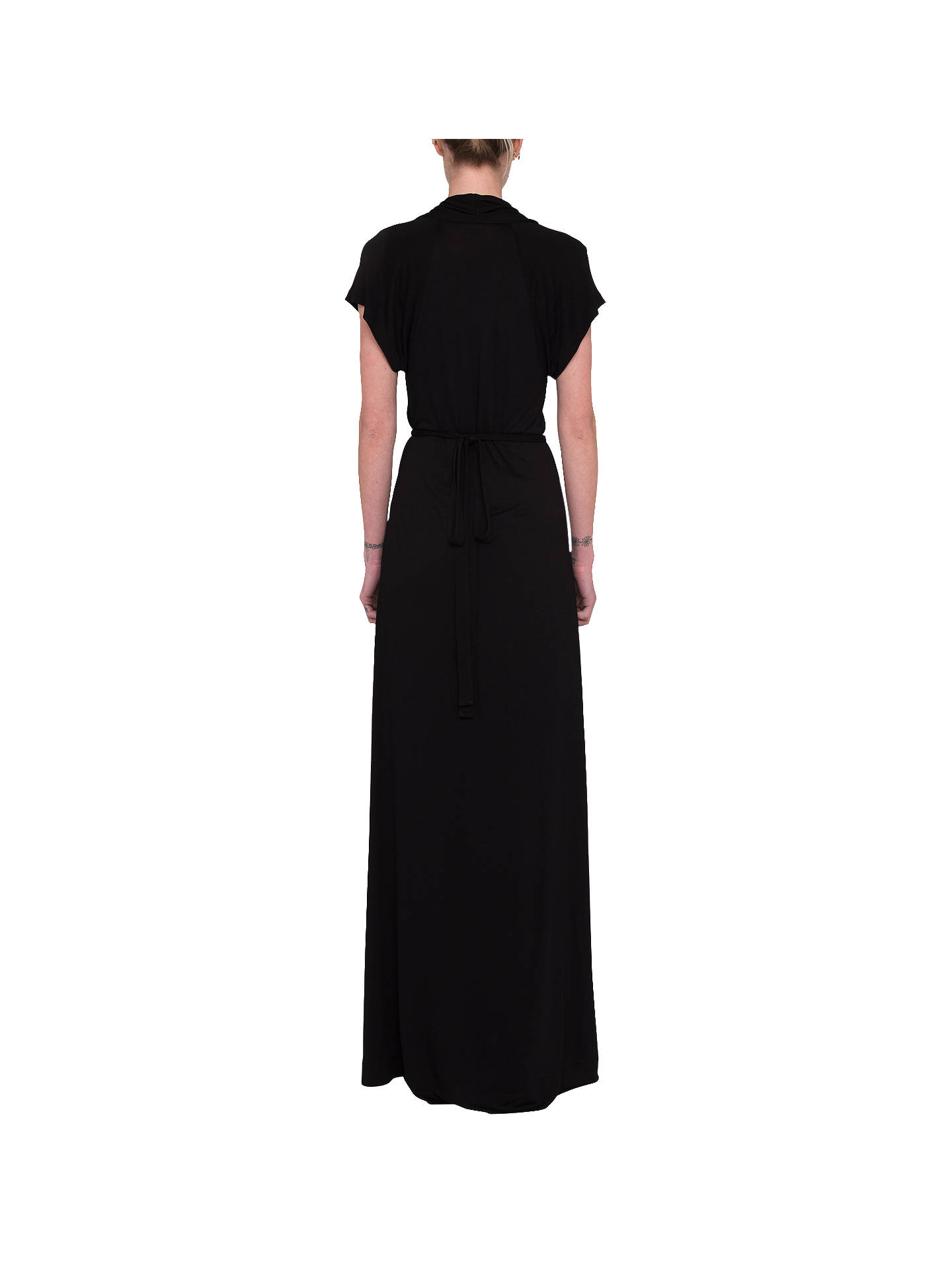 dd6cb7e36c ... Buy French Connection Meadow Jersey V-Neck Maxi Dress, Black, 6 Online  at ...