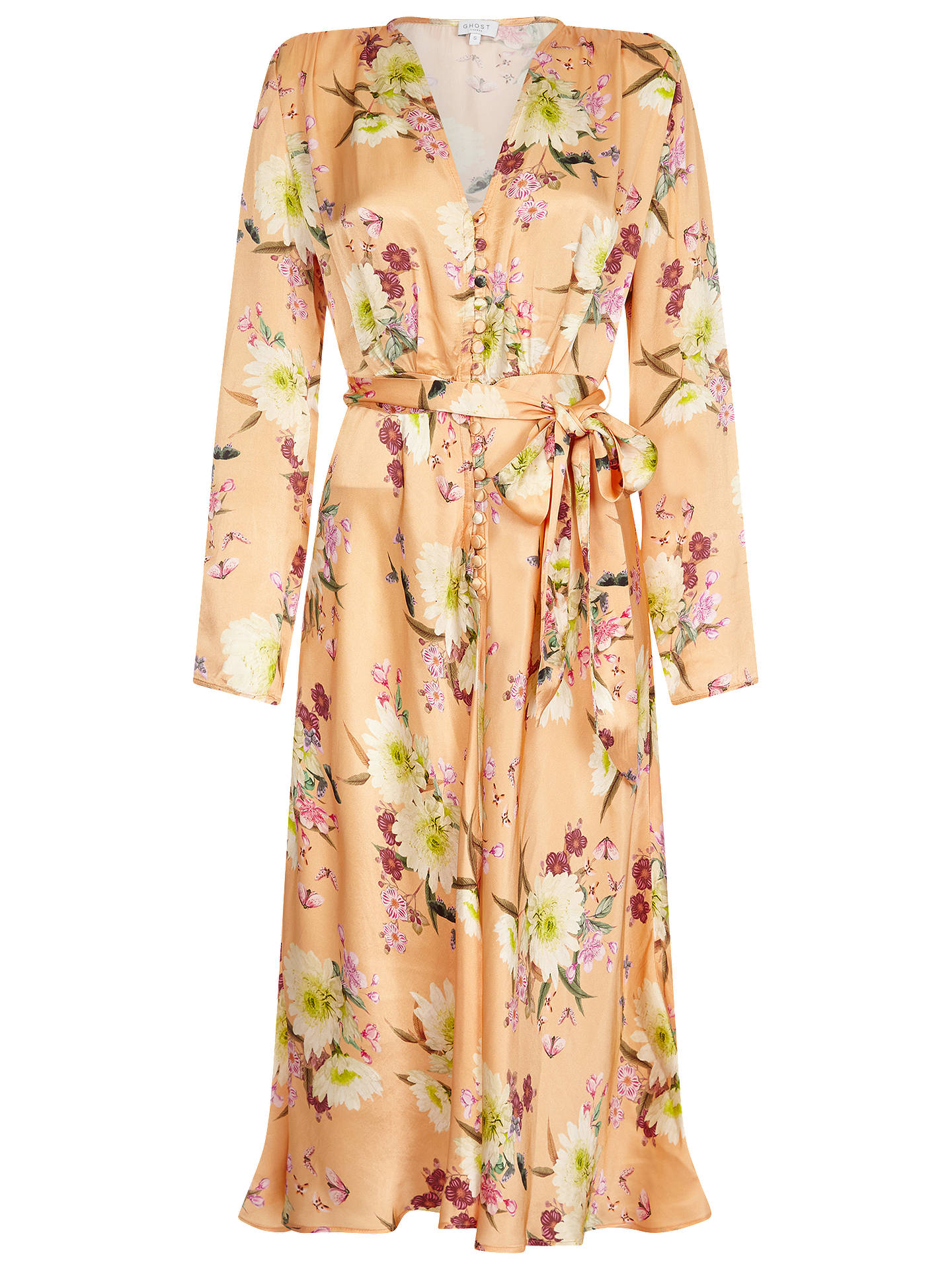 BuyGhost Meryl Dress, Summer Bloom, XXS Online at johnlewis.com