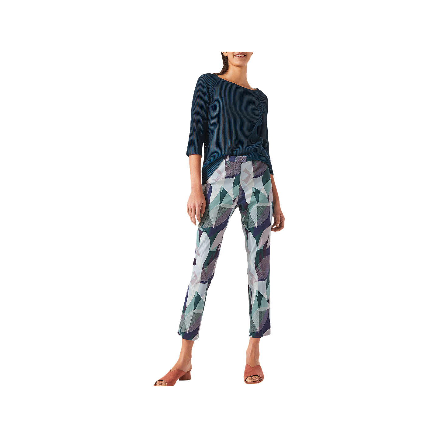 Woven Leaves Cigarette Trousers Jigsaw 259mC7