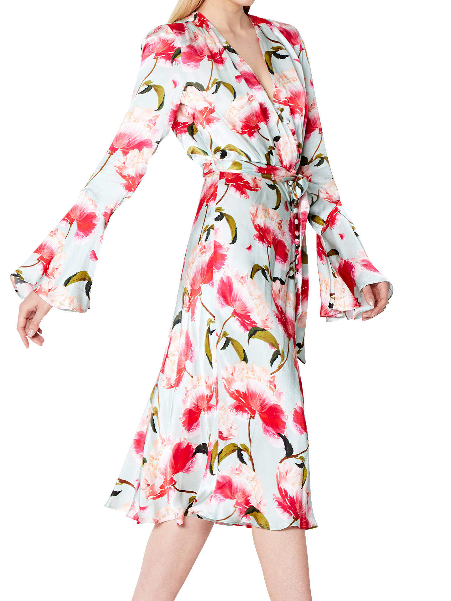 BuyGhost Annabelle Satin Dress, Sabella, XXS Online at johnlewis.com