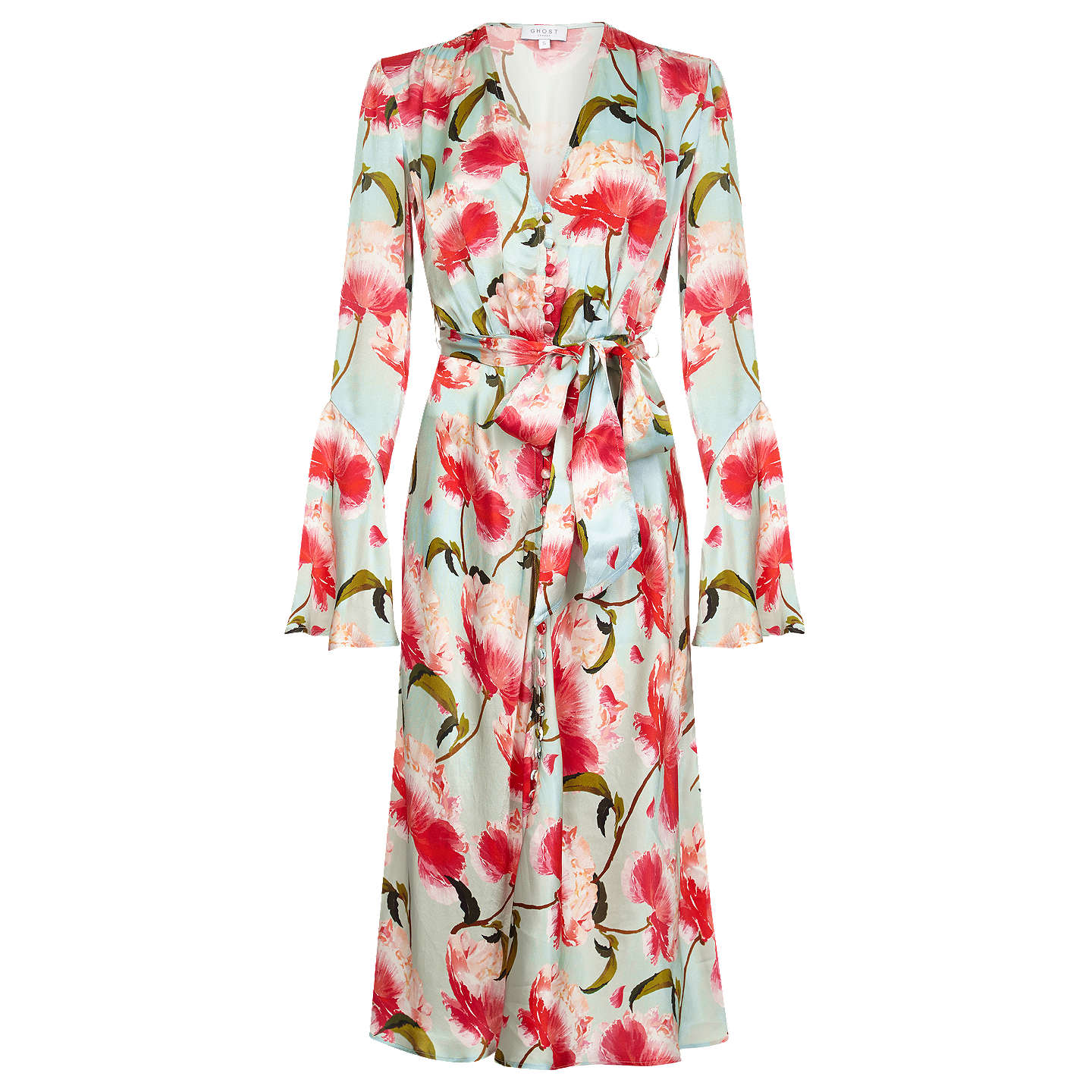 BuyGhost Annabelle Satin Dress, Sabella, XS Online at johnlewis.com