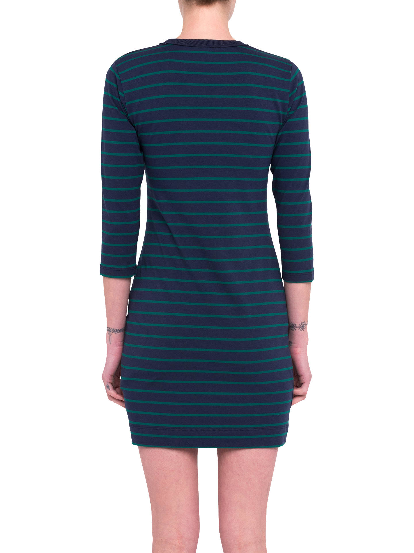 Buy French Connection Tim Tim Striped Dress, Nocturnal, L Online at johnlewis.com
