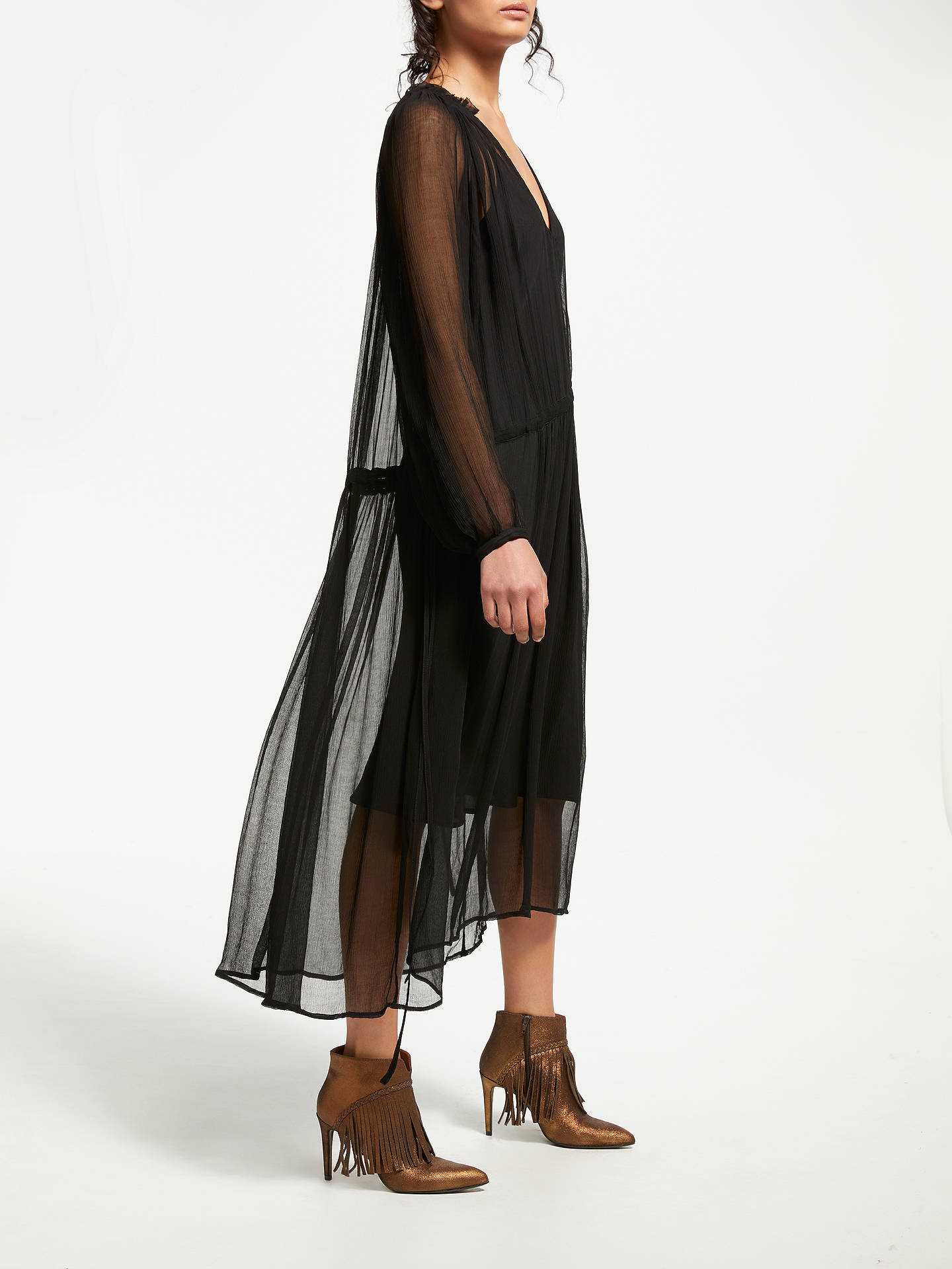 BuyAND/OR Megan Midi Dress, Black, 8 Online at johnlewis.com