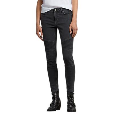 AllSaints Biker Ankle Jeans, Washed Black