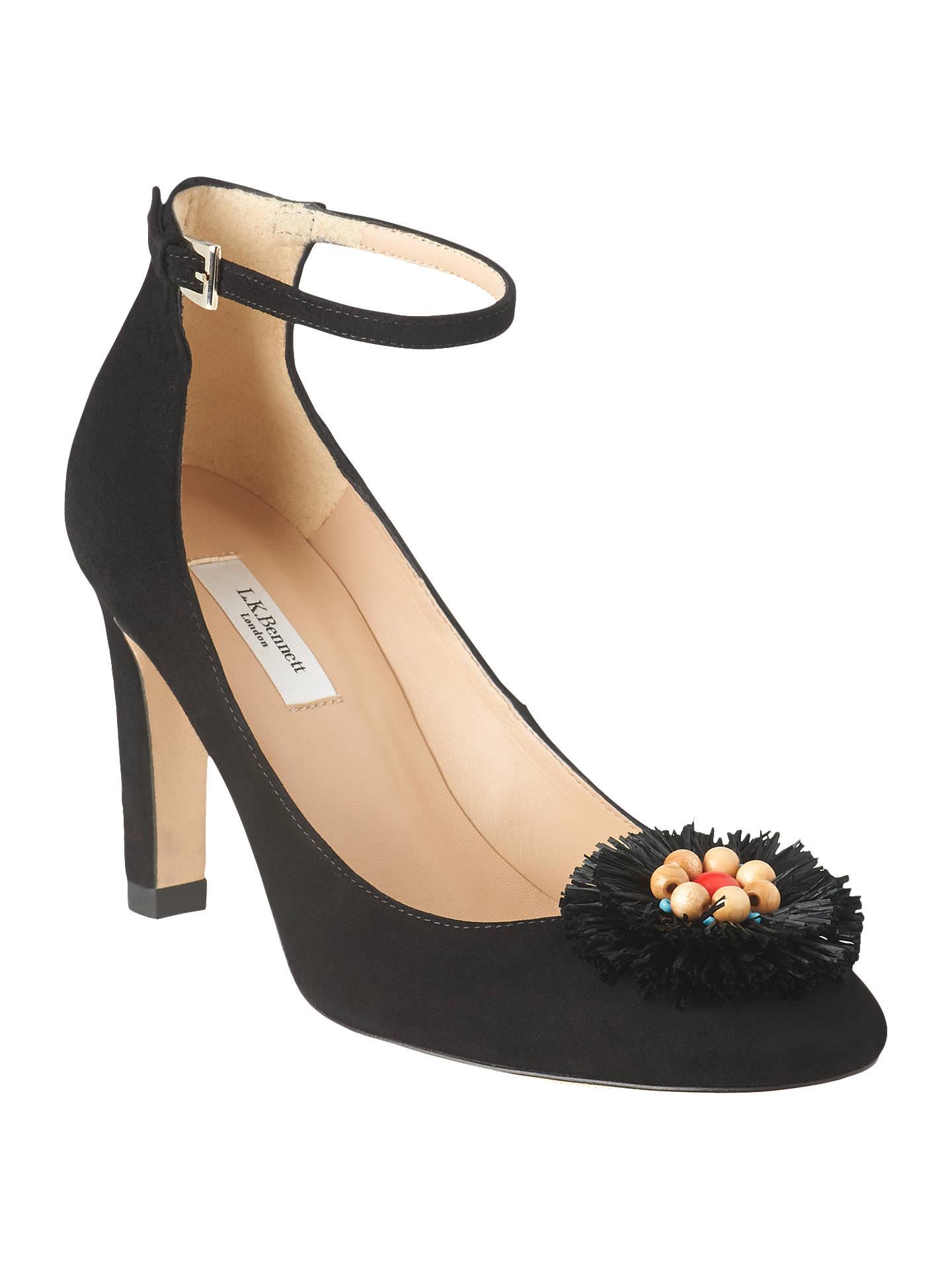 3fd97b8c3e7f5f Buy L.K.Bennett Gwen Flower Court Shoes, Black Suede, 2 Online at johnlewis.