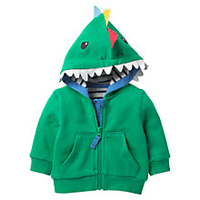 Buy Mini Boden Baby Dino Hoodie, Green Online at johnlewis.com
