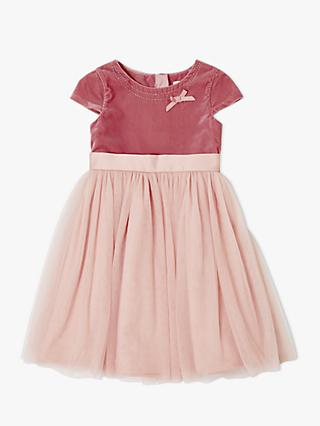 John Lewis & Partners Heirloom Collection Girls' Velvet Bodice Dress, Pink