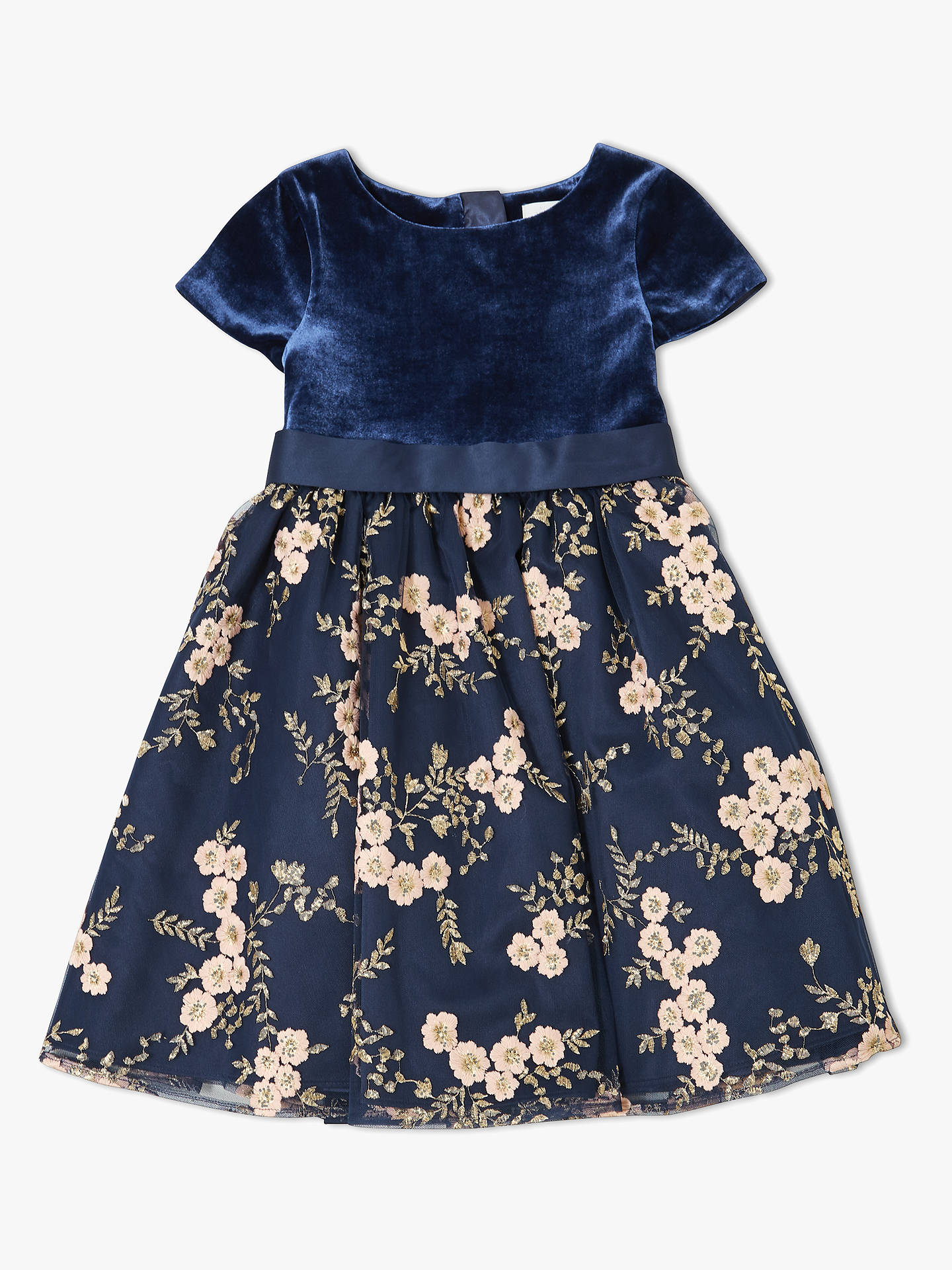 0d3b8a22fe John Lewis   Partners Heirloom Collection Girls  Velvet Bodice Dress ...