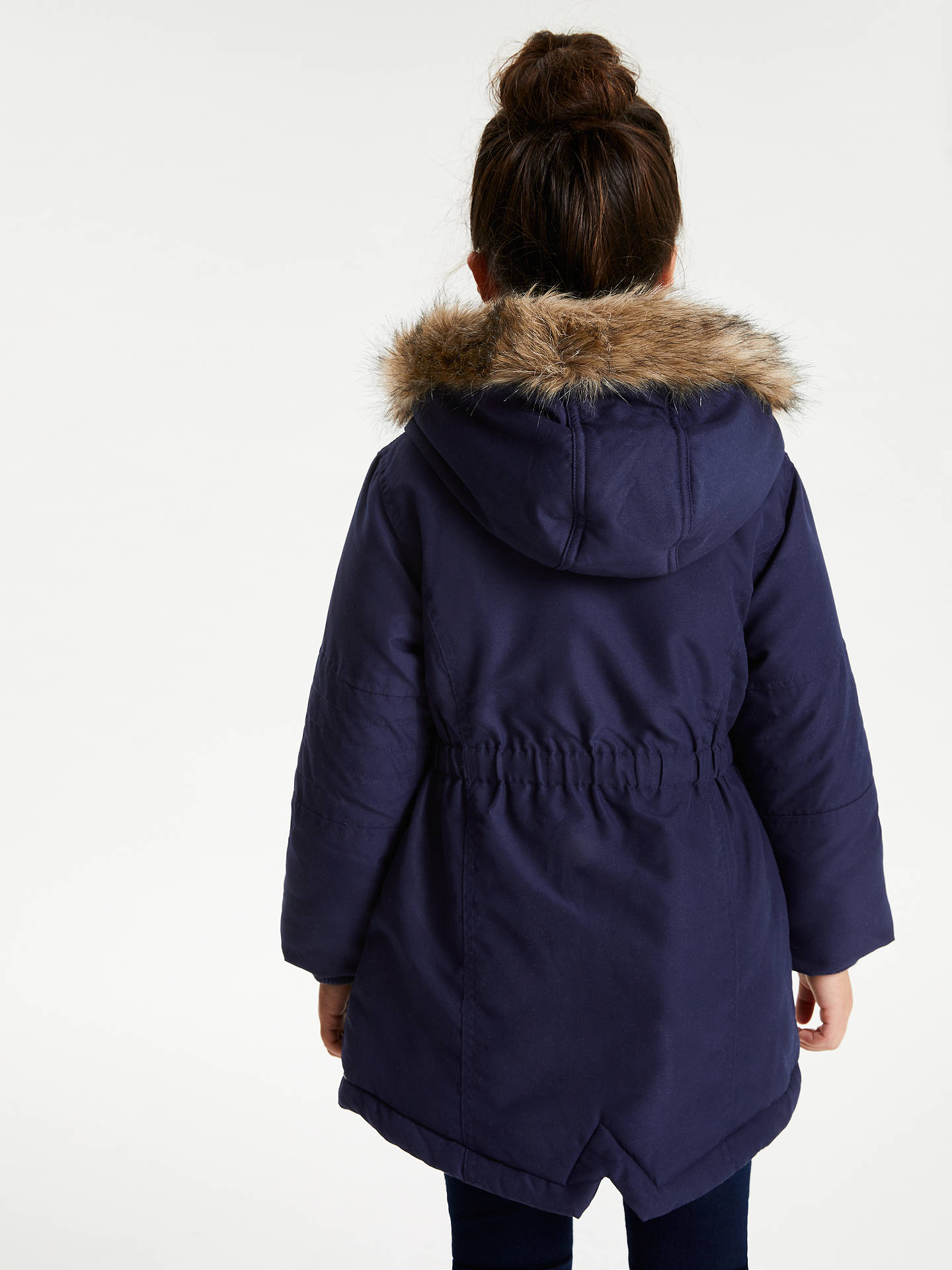 BuyJohn Lewis & Partners Girls' Parka Coat, Navy, 2 years Online at johnlewis.com