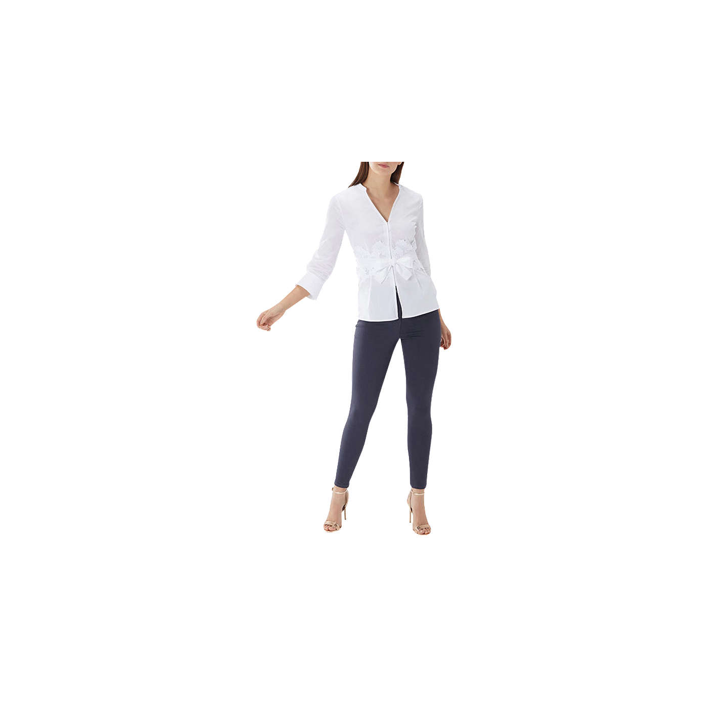 BuyCoast Ivory Naomi Belted Shirt, Ivory, 6 Online at johnlewis.com