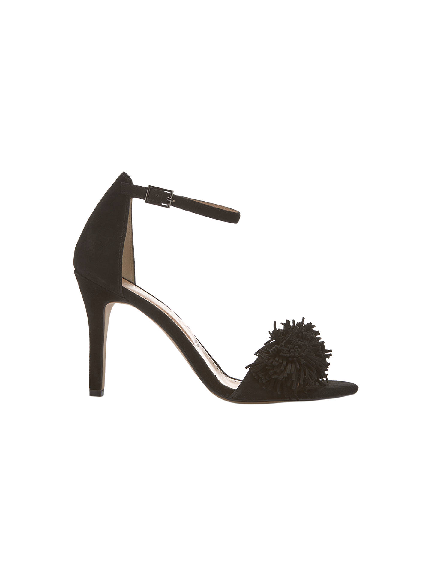 14ed3f4d6fd Mint Velvet Sara Stiletto Heel Sandals, Black Suede at John Lewis ...