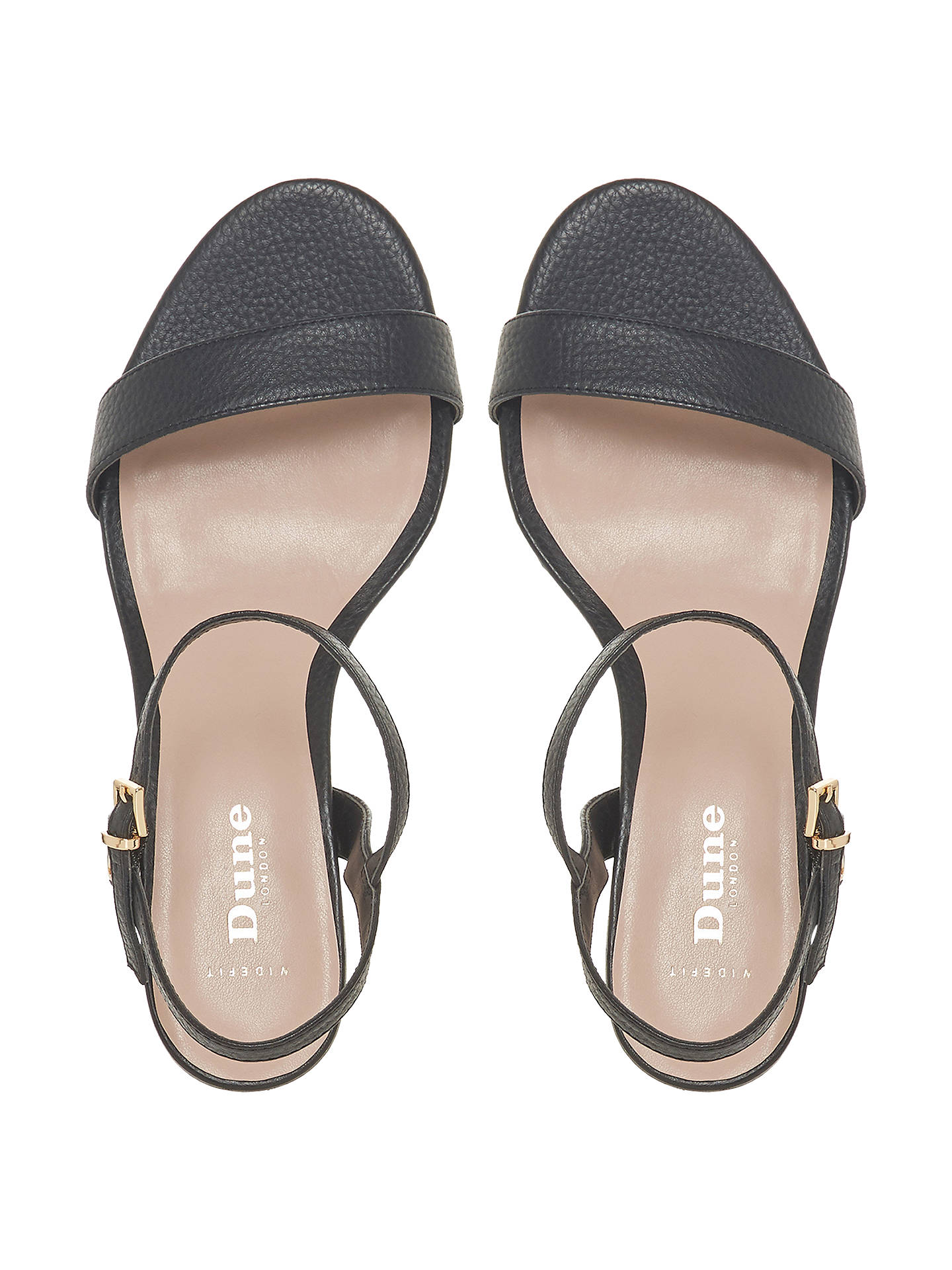5208dfb10ec Dune Wide Fit Jiggle Block Heel Sandals at John Lewis   Partners