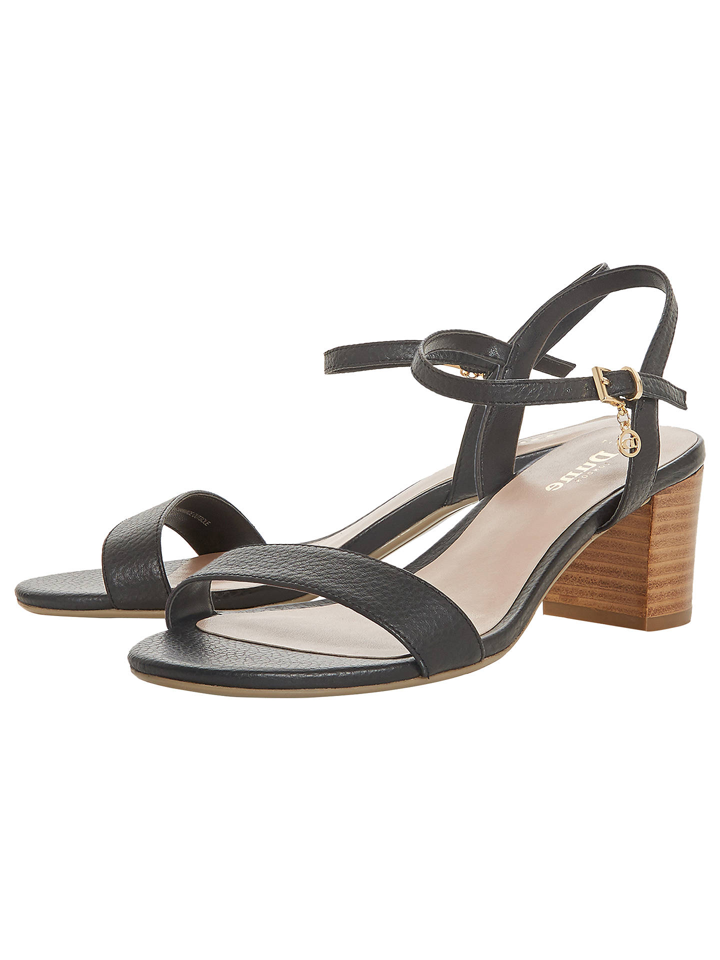 8eef1ccb28eb Dune Wide Fit Jiggle Block Heel Sandals at John Lewis   Partners