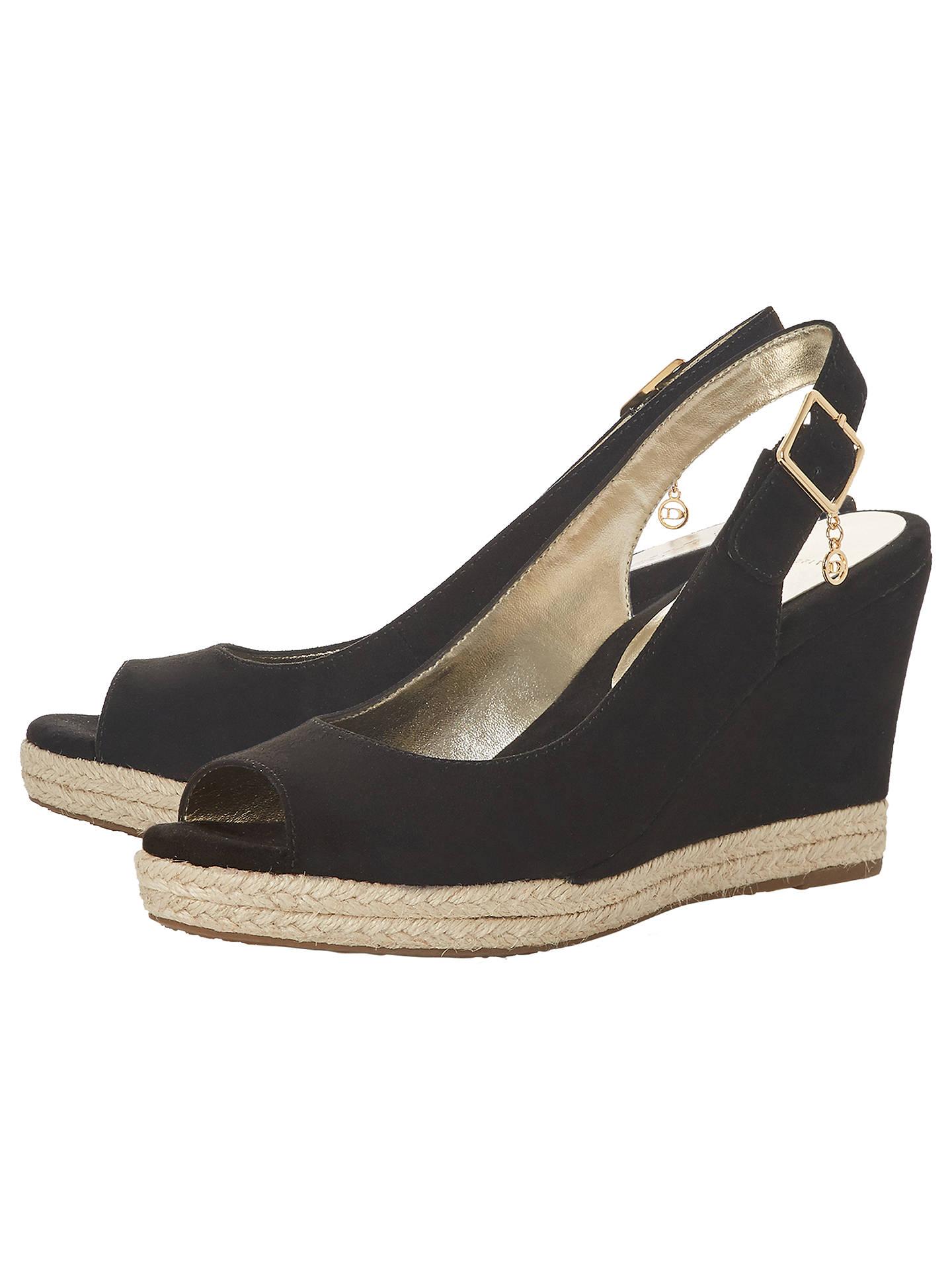 843252e115f Dune Wide Fit Klick Wedge Heel Sandals at John Lewis   Partners