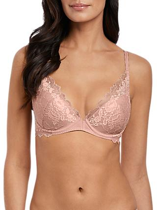 Wacoal Lace Perfection Push Up Bra, Rose Mist