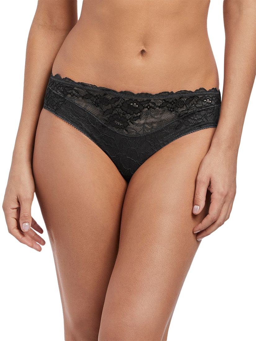 Wacoal Wacoal Lace Perfection Briefs, Charcoal