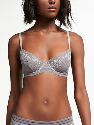 Buy AND/OR Orla Balcony Bra, Grey, 30C Online at johnlewis.com