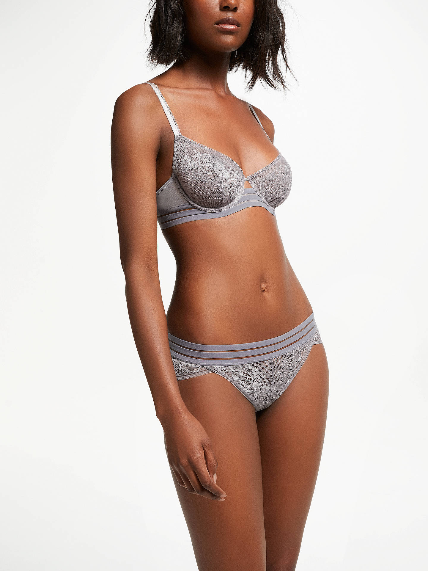 BuyAND/OR Orla Balcony Bra, Grey, 30C Online at johnlewis.com