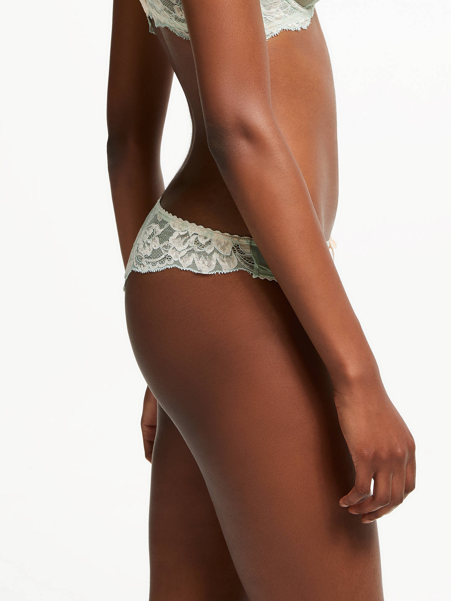 Buy AND/OR Valentina Lace Brazilian Briefs, Aqua, 12 Online at johnlewis.com