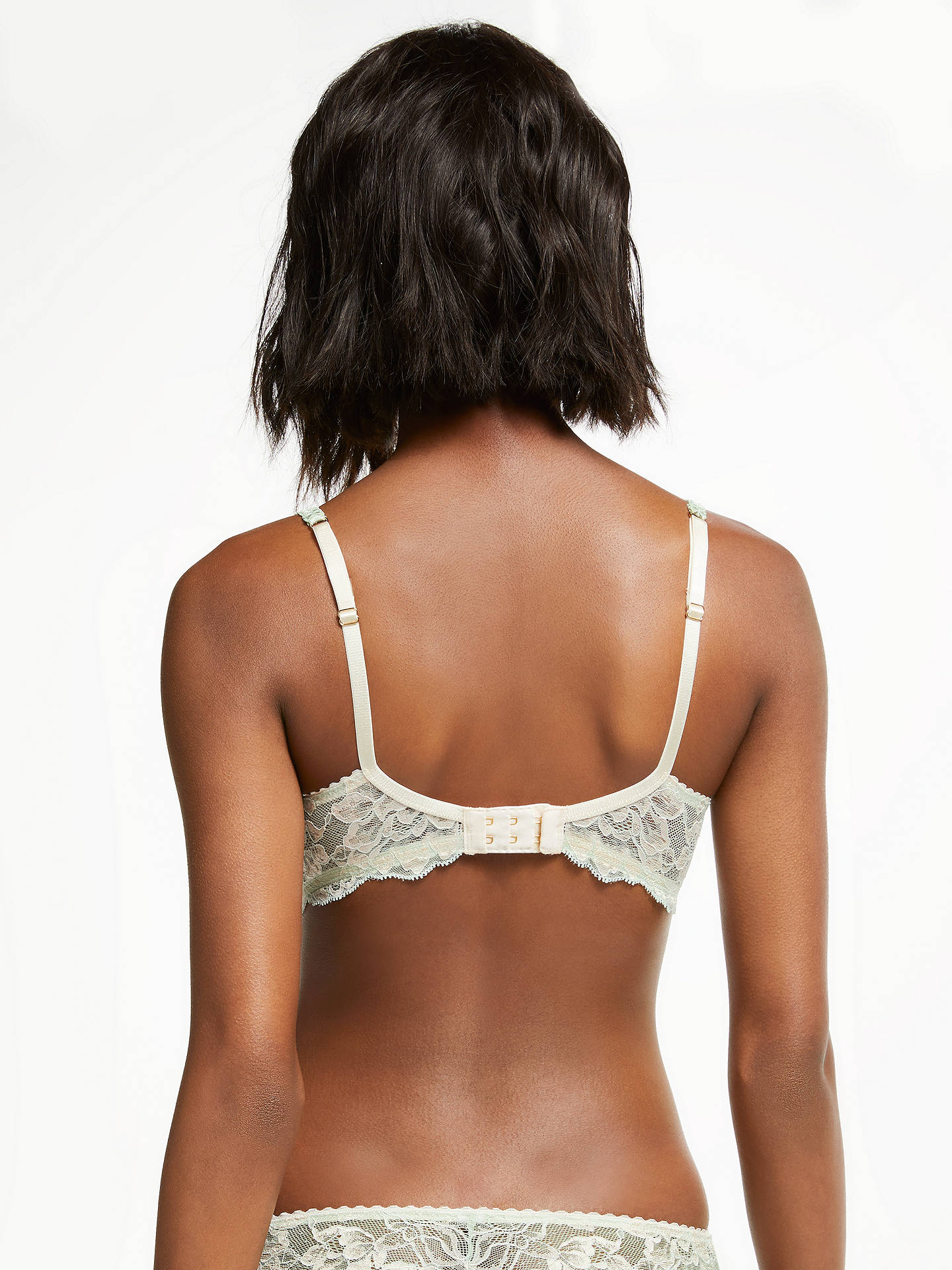 Buy AND/OR Valentina Lace Plunge Bra, Aqua, 30C Online at johnlewis.com