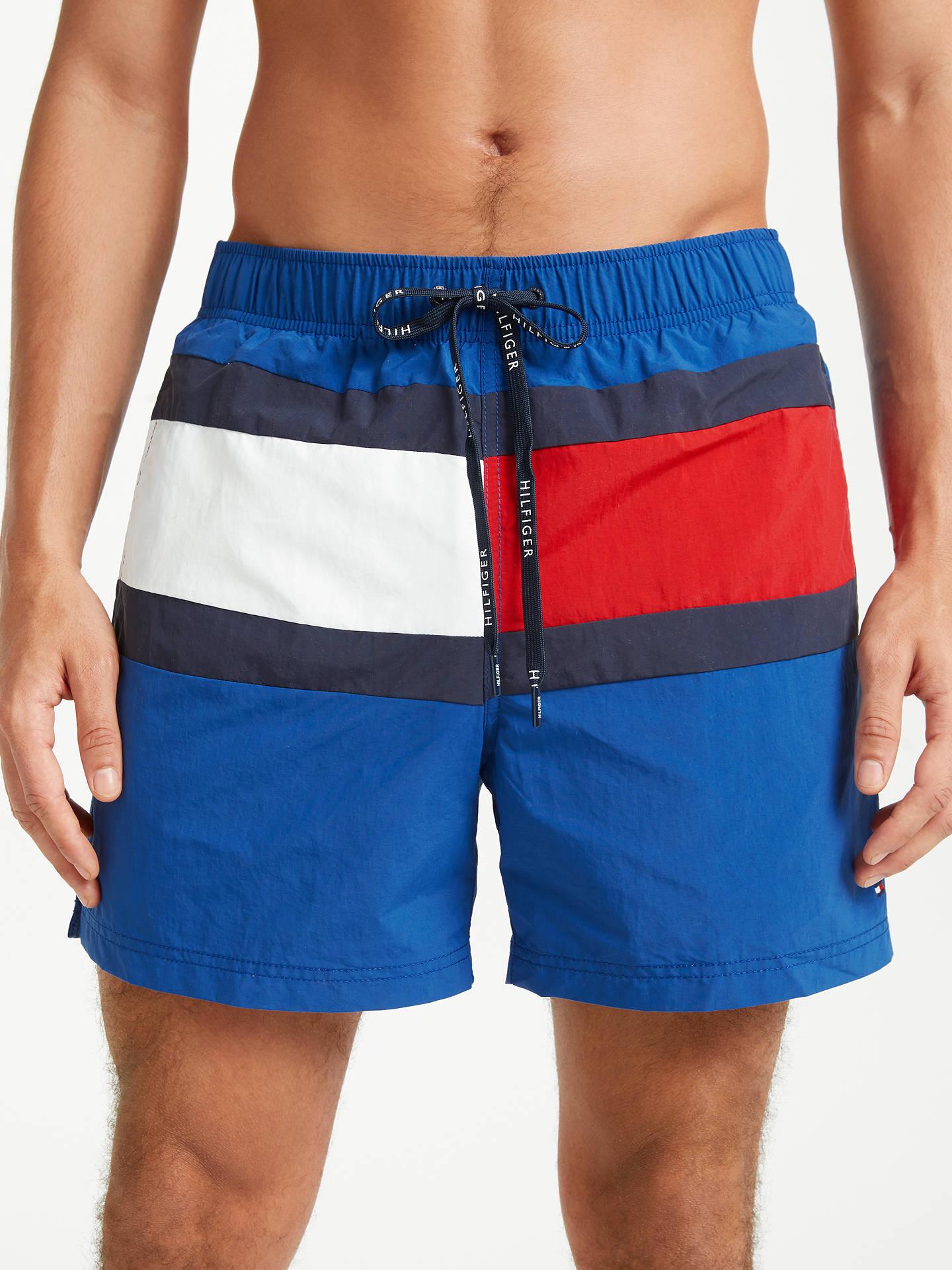 6841d04b4621b Buy Tommy Hilfiger Flag Design Swim Shorts, True Blue, XL Online at  johnlewis.